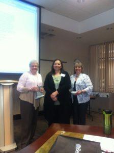 SCWF co-founder Karen Probert, Dream Write President Linda Pedley, & Conference organizer Mandy Barnett