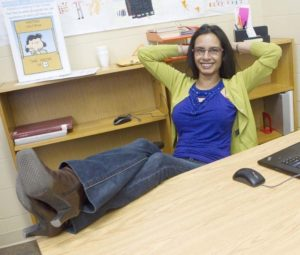 PEN MEETS PAPER – Natasha Deen, the first writer-in-residence at the St. Albert Public Library, is just wrapping up her four-month stint. CHRIS COLBOURNE/St. Albert Gazette