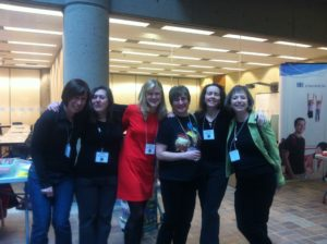 Left to Right: Carolyn Fisher, Debby Waldman, Lorna Nicholson, Joan Marie Galat, Lorna Benett, & Jacqueline Guest!
