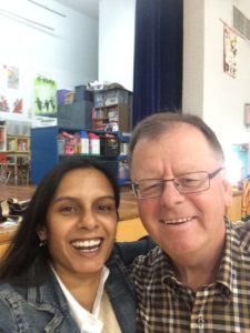 Me & Rick Massini, Board of Trustees - Vice Chair for the Medicine Hat School District, having fun at Ecole Connaught's Literacy Celebration!