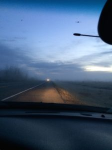 Sunrises/Sunsets on the prairie as you drive to schools.